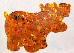 Holographic Shape Glitter! - Orange Moons