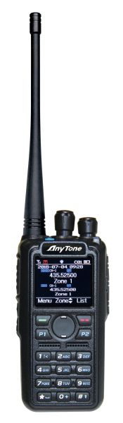 Anytone AT-D878UVPLUS Dualband 2M/440MHz, DMR/Analog Handie-Talkie.