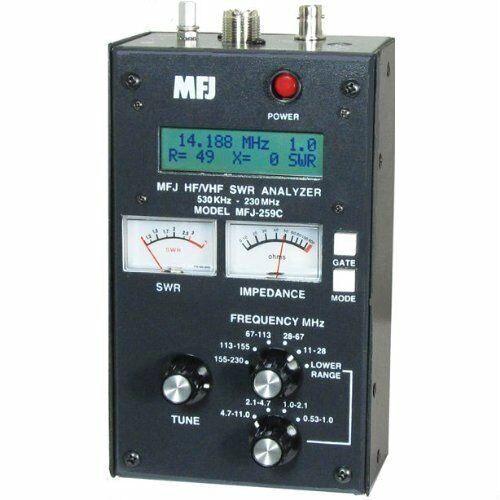 MFJ-259C HF/VHF/220 MHZ, .53-230 MHZ, SWR ANALYZER