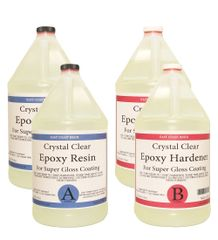 Crystal Clear Epoxy Resin Kit 4 gallons ( 2 gal resin and 2 gal Hardener )