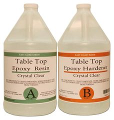 Table Top Epoxy Resin Kit 2 gallon ( 1 gal resin and 1 gal Hardener )