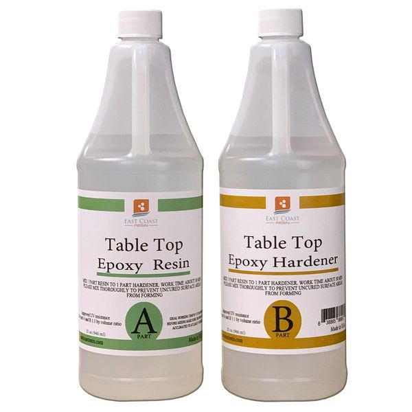 Table Top Epoxy Resin Kit 64 oz ( 32 oz Resin and 32 oz Hardener )