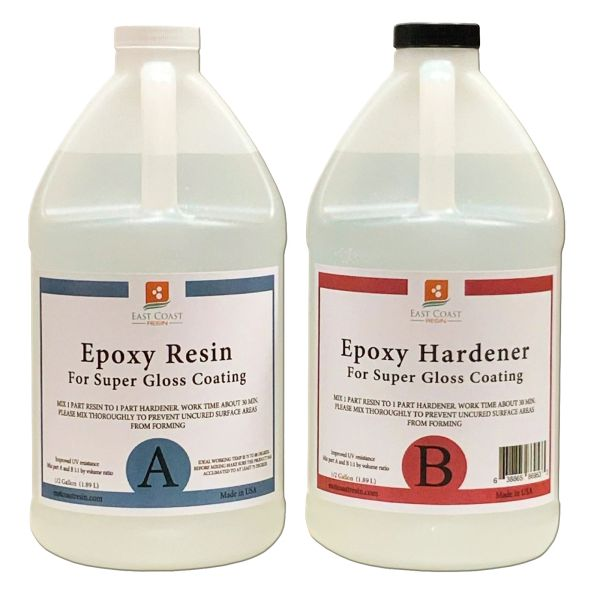 Epoxy Resin Kit 1 gallon ( 1/2 gal resin and 1/2 gal Hardener )