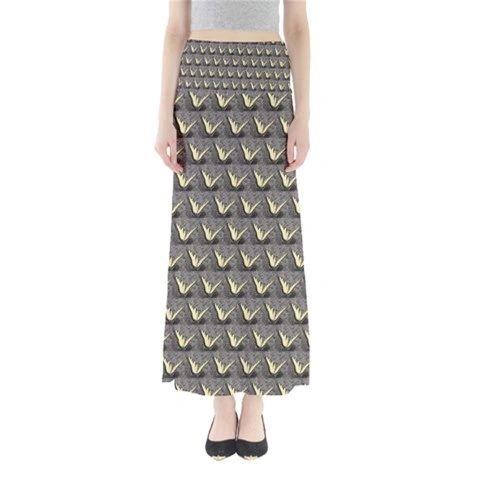 Butterfly Pattern Maxi Skirt