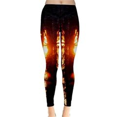 Sunset Through the Trees Winter Leggings