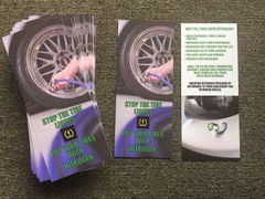 Nitrogen Tire Fill Customer Benefit Cards (Pack of 200 NTFCC200)