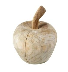 Large Natural Wooden Apple