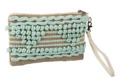 Crochet Mint Clutch Bag