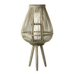 Wooden lantern on legs