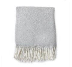 Grey Soft Tassel Throw