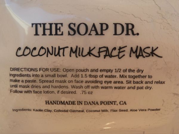 Coconut Milk Face Mask