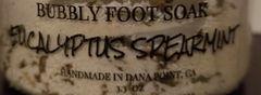 Eucalyptus Spearmint Bubbly Foot Soak
