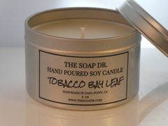 Tobacco Bay Leaf Soy Candle 8 oz