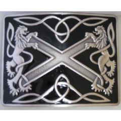 Black with Antique Silver Highland Saltire Buckle
