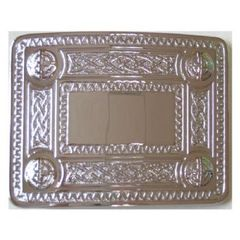Celtic Pattern Belt Buckle - Chrome