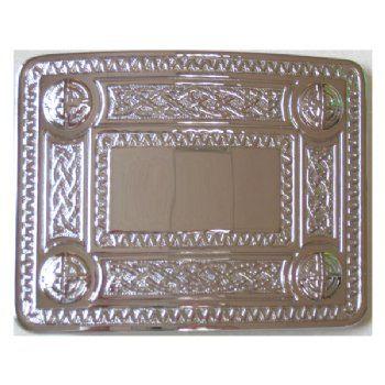 Celtic Pattern Belt Buckle - Chrome