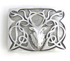 Pewter Stag Buckle - Matte