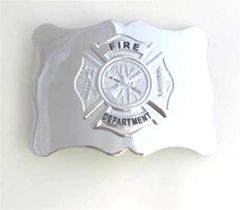 Fire Department Buckle - Chrome