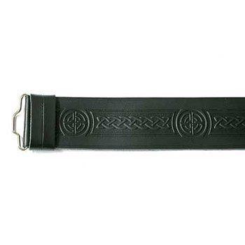 Celtic Knot Hide Velcro Belt
