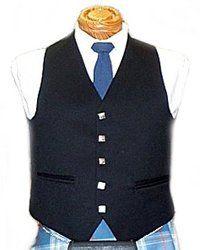 Men's 5 Button Vest - Black