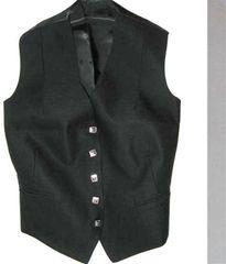 Women's 5 Button Vest - Black