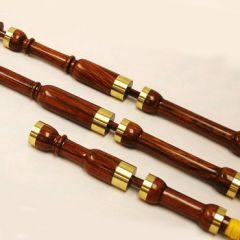 "Gisbon Cocobolo Firesides in ""B flat"" - Brass Mounts"