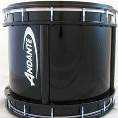 "Andante Tenor 16""x12"" Drum - Black with Black Metalwork"