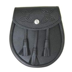 GM Grain Leather Sporran with Flat Tassels
