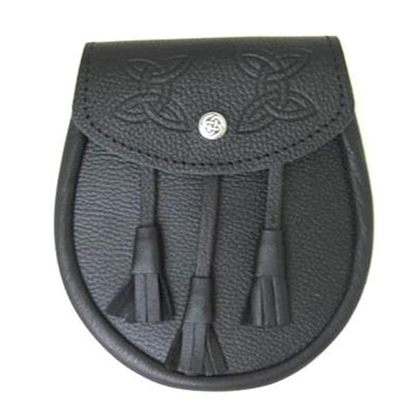 GM Grain Leather Sporran with Flat Tassels
