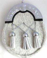Dress Sporran with Crossed Chain Tassels