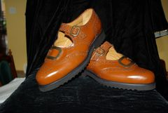 Avriel Brown Brown Buckle ghillie brogue