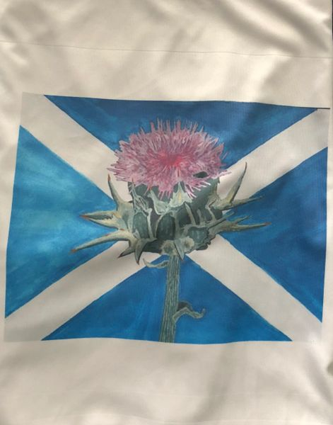 St Andrews Cross with Thistle