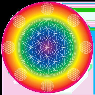 Rainbow Flower of Life Poster