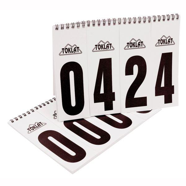 Toklat number flip chart
