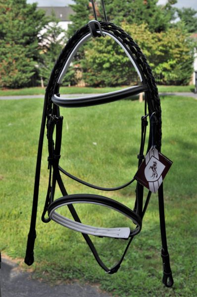 Bobby's English Tack Padded snaffle bridle