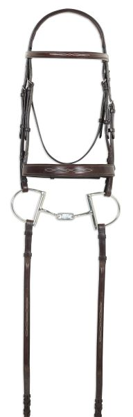 Ovation® Classic Collection- Fancy Raised Comfort Crown Wide Noseband Bridle