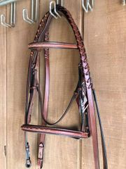Bobby's English Tack Fancy Stitched, Padded Monocrown Bridle
