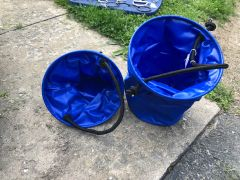 Collapsible water buckets