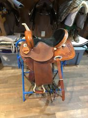 "15"" Dakota Barrel saddle, FQHB"