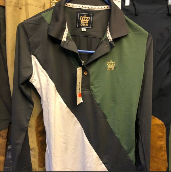 GHM long sleeve polo adult Small
