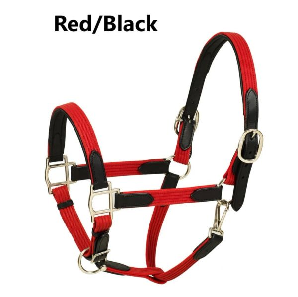 HK Americana leather paddded web halter