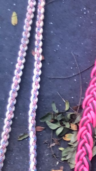 Used paracord Clip reins