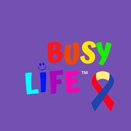 Busy Life Logo with Inclusion Ribbon
