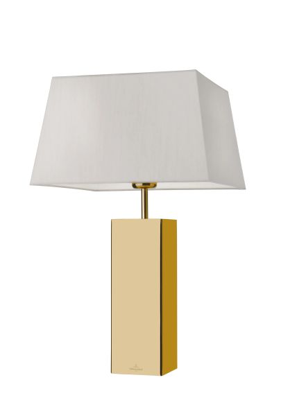 Prag Gold Square Table Lamp