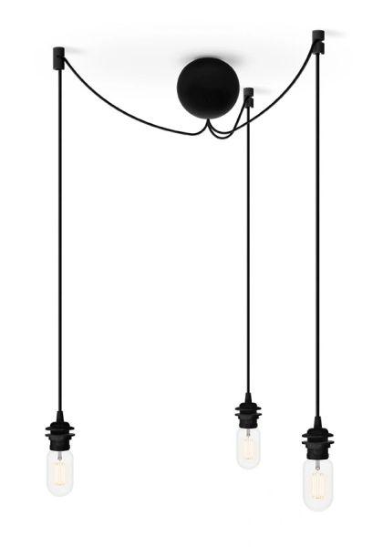 Cannonball Black Cluster 3 Cord Set