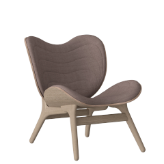 A Conversation Piece Armchair - Oak - Dusty Rose