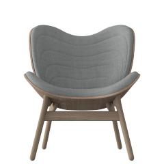 A Conversation Piece Armchair - Dark Oak - Silver Grey