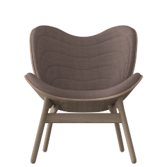 A Conversation Piece Armchair - Dark Oak - Dusty Rose