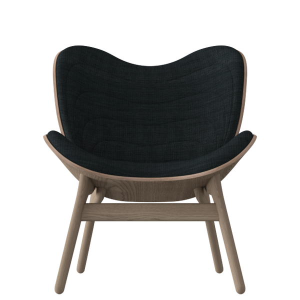 A Conversation Piece Armchair - Oak - Slate Grey