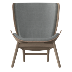 The Reader Armchair - Dark Oak - Silver Grey